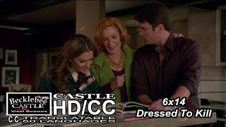 "Castle 6x14  ""Dressed To Kill""  Castle & Beckett with Martha  (HD/CC)"
