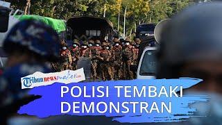 Demo Anti-kudeta Myanmar Memanas, Polisi Tembaki Demonstran hingga Lukai 3 Orang