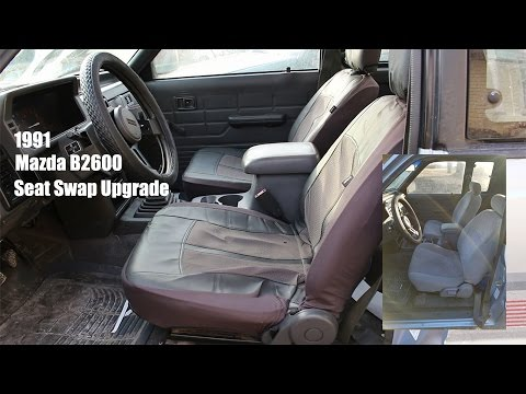 Mazda B2600 Seat Swap from Ford Escort and center consoul from Nissan Xterra