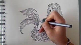H2o-просто добавь воды, How to draw a Mermaid - step by step