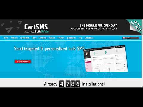 CartSMS - SMS module for OpenCart   SMS notifications & target marketing