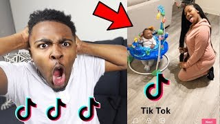 REACTING TO MY 4 MONTH OLD SON AND FIANCE CRINGEY TIK TOK VIDEOS! | VLOGMAS DAY 11