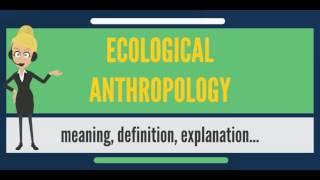 What is ECOLOGICAL ANTHROPOLOGY? What does ECOLOGICAL ANTHROPOLOGY mean?