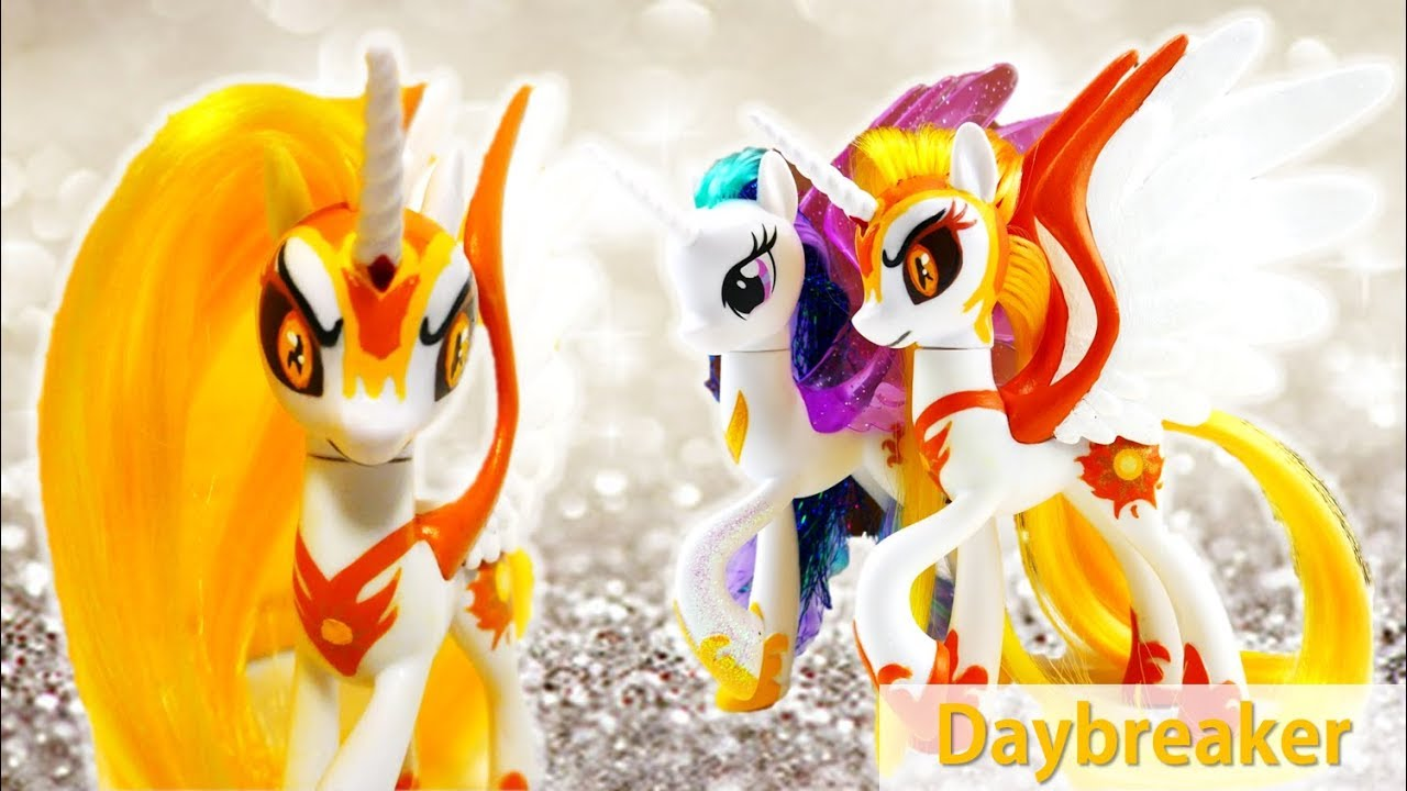My Little Pony DAYBREAKER Princess Celestia Transformation Custom Tutorial