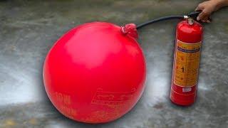 NTN - Thử Bơm Đầy Bột Cứu Hỏa Vào Quả Bóng Bay (Pumping extinguishing powder into a balloon)