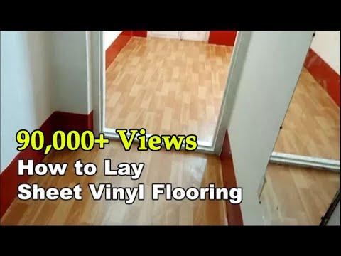 How to lay sheet vinyl Floor Mat | Vinyl Flooring using PolyGrip | Namma Davangere