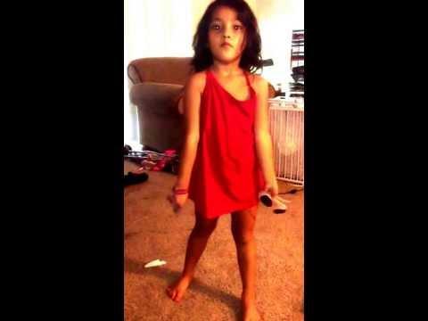 My little Girl dancing reggae