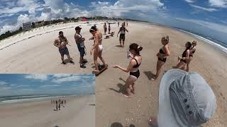DJI FPV Drone Onewheel Beach 4K