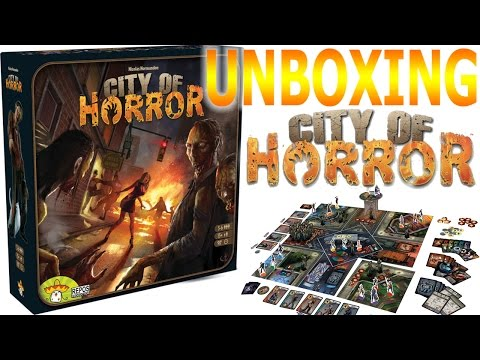 City of Horror Board Game - Unboxing
