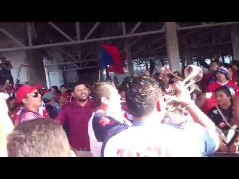 """""""Caravana 2015 tiburones rojos"""" Barra: Guardia Roja • Club: Tiburones Rojos de Veracruz"""