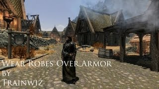 Another Skyrim Mod Review - Wear Robes Over Armor by Trainwiz