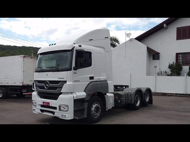Vídeo do caminhão Axor 2544 6x2