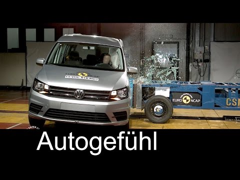 Volkswagen VW Caddy crash test 4 stars Euro NCAP 2016 - Autogefühl