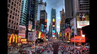 New York, Central Manhattan & Times Square, 4K