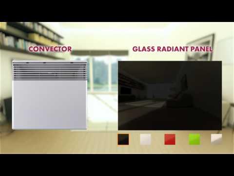 Instalación de paneles radiantes de vidrio GR