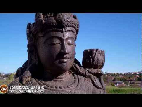 SOLD Stone Devi Tara Sculpture 35