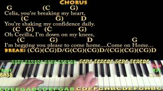 Oh Cecilia (S&G) Piano Cover Lesson in G with Chords/Lyrics