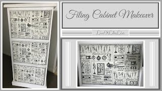 FURNITURE MAKEOVER | Filing Cabinet (Chalkpaint & Decoupage)