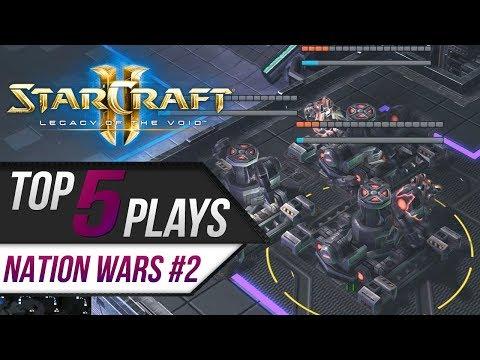 Starcraft 2: TOP 5 Plays - Nation Wars 2019 #2