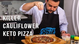Killer Cauliflower Pizza - Keto Diet Friendly