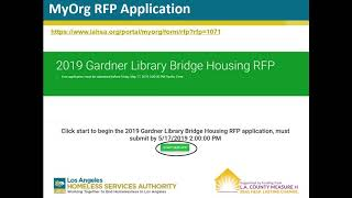 2019 Gardner Library Bridge Housing RFP Webinar