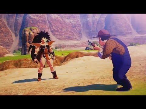 Dragon Ball Z Kakarot - A Farmer with a Shotgun