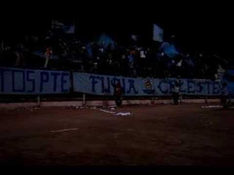 """Furia Celeste - Dale Dragon"" Barra: Furia Celeste • Club: Deportes Iquique"