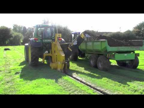 Wizz Wheel Trencher in action