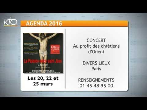 Agenda du 18 mars 2016