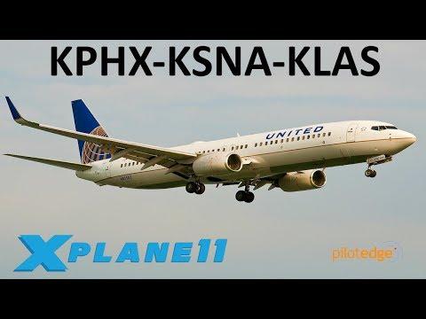 X-Plane 11] IXEG 737-300 NIGHT LANDING || xVision - смотреть онлайн