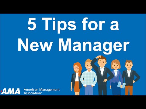 Tips to Become a Successful New Manager - YouTube