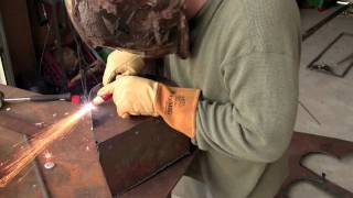 art welding simple robot sculpture shapes with my new longevity
