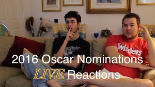 LIVE Reactions to the 2016 Oscar Nominations