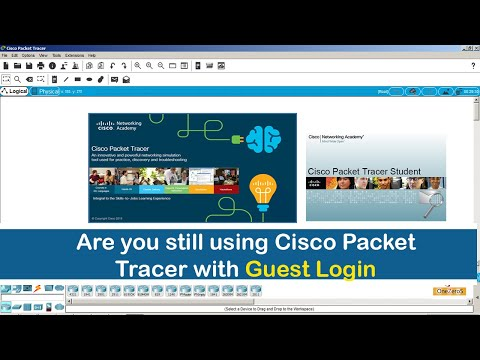 Are you still using Cisco Packet Tracer with the guest login?