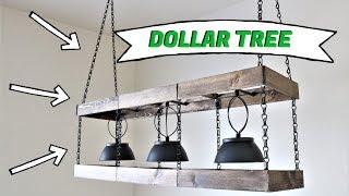Dollar Tree DIY Farmhouse Chandelier [2020]