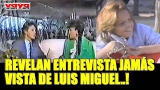Sale a la luz entrevista inédita de Luis Miguel hablando sobre la separación de sus padres