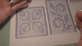 Филейный узоры. МК по вязанию салфетки.
