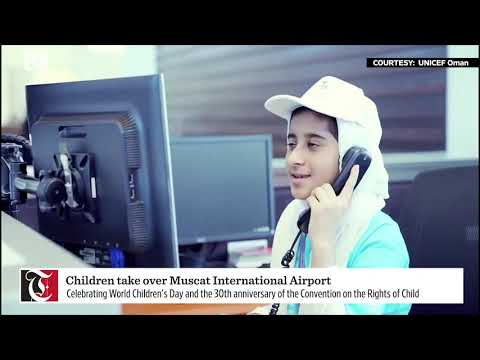 Children take over Muscat International Airport