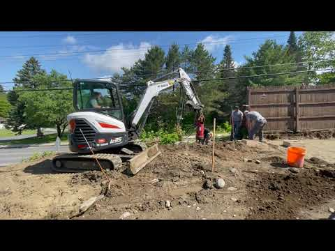 Helical Posts & Concrete Footings for a Deck in Barre, Vermont, with Matt Clark's Northern Basement Systems.
