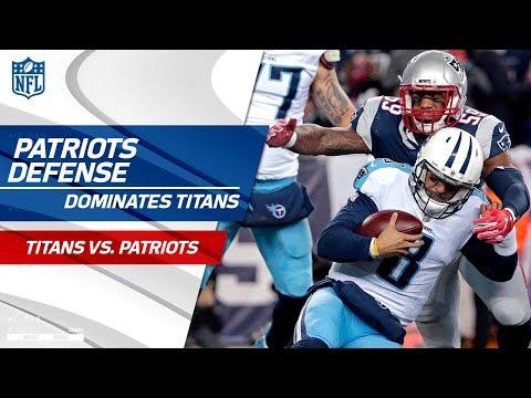 New England's Defense Racks Up 8 Sacks! | Titans vs. Patriots | Divisional Round Player HLs
