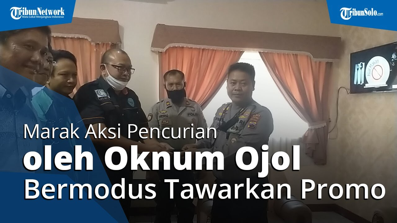 Aksi Pencurian oleh Oknum Ojol di Klaten, Bermodus Tawarkan Promo hingga Tertangkap CCTV