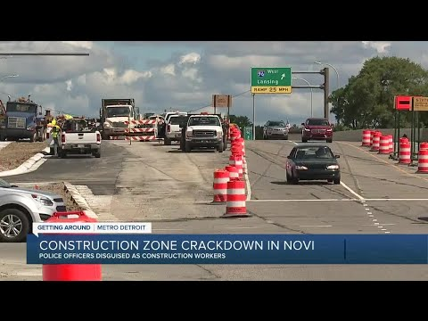 Novi police posing as construction workers to crack down on speeding in work zones