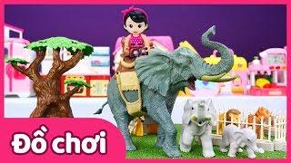 Bộ đồ chơi khu rừng động vật Animal zone Safari Play Set | Đồ chơi | Trò chơi đóng vai