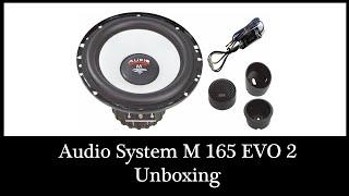 Audio System M 165 EVO 2 Lautsprecher Audio System 2-Wege 16,5cm Speaker  3Ohm Unboxing DIY