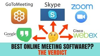 ONLINE MEETING SOFTWARE - WHICH IS BEST? HERE'S THE BREAKDOWN