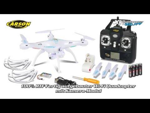 D-Edition TV präsentiert den X4 Quadrocopter 360 FPV WIFI von Carson 500507101