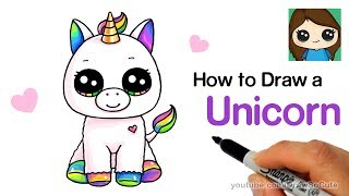 How To Draw A Baby Unicorn Easy | Beanie Boos