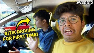 Jash In Danger || Ritik Driving Car For The First Time || Two Side Gamers Vlog  Ep-2