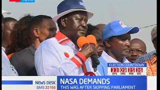 NASA leaders insisted on not participating on the October poll if the IEBC staff remains unchanged