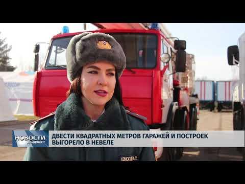 Новости Псков 21.02.2020/ Двести квадратных метров гаражей и построек выгорело в Невеле